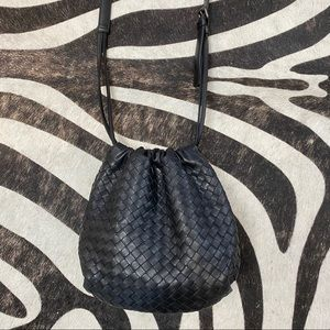 Bottega Veneta Woven Black Leather Crossbody